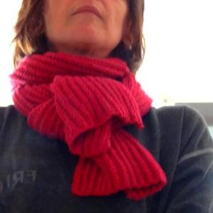 Tricoter une charpe en fausses c tes anglaises - Quel point pour tricoter une echarpe ...