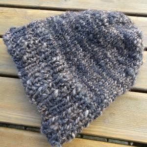 Bonnet tricot à plat