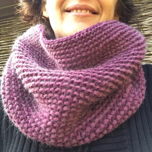 modele snood au point mousse
