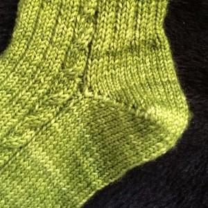 tricoter un talon de chaussette