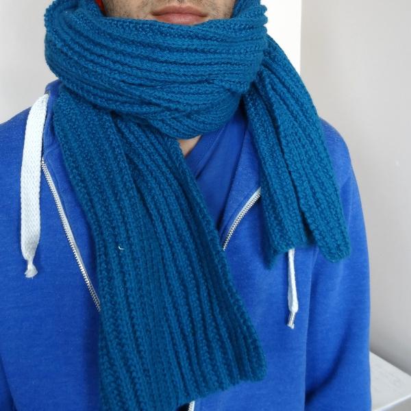 Tricoter une charpe en fausses c tes anglaises - Tricoter une echarpe homme ...