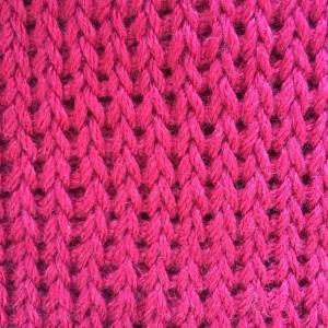 Point tunisien tricot