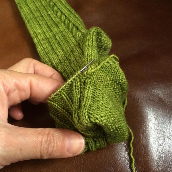retourner chaussette - Tricoter facile