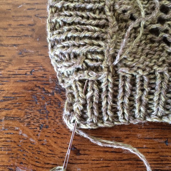 Vid o finitions tricot comment rentrer les fils - Rentrer les fils tricot ...